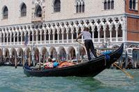 Gondolier in Venice, Italy