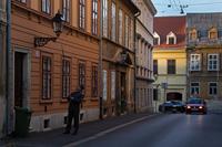 Lamp lighter -famous touristic attraction in city Zagreb, Croatia