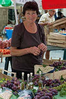 Nice lady from market in Dubrovnik
