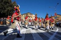 Brgujski bellringers from town Rijeka during bellringers festival in place Matulji, Kvarner, Croatia