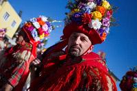 Headdress of Brgujski bellringer from town Rijeka during bellringers festival in place Matulji, Kvarner, Croatia