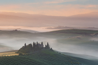 Famous view near San Quirico d'Orcia in Tuscany, Italy