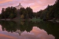 Trakoscan castle in sunset, Zagorje, Croatia