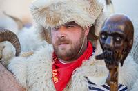 Bellringer from town Rijeka during famous bellringers festival in place Matulji, Kvarner, Croatia