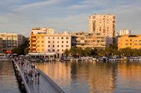 Bridge in port Jazine in town Zadar, Dalmatia, Croatia