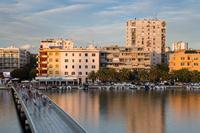 Famous bridge in port Jazine in town Zadar, Dalmatia, Croatia