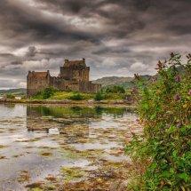 Grey sky at Eilean Donan
