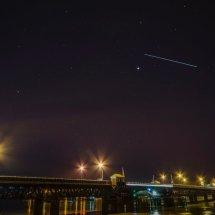 ISS over Walney Island