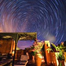 Morocco star trails
