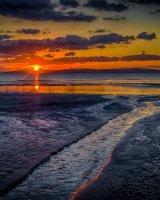 Sundown on Prestwick Beach