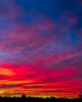 Sunset over Swansea, Tasmania