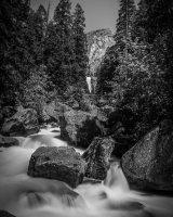 Merced River And Vernal Falls