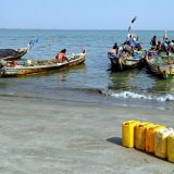Gambia, Fishing boats go to sea