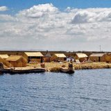 Peru, Lake Titicaca floating village