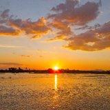 Tanzania, Sunset at Selous