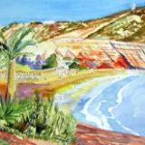 Costa da Luz study in Watercolor