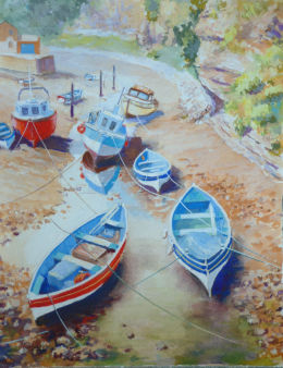 Staithes up river