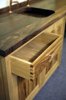 Hand Cut dovetails to Drawers