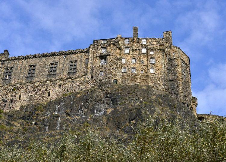 Castle - Edinburgh Castle (from the south-west)