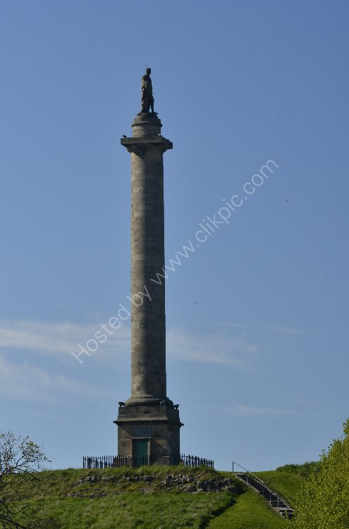 Monument - Fifth Duke of Gordon - First Commander of the Gordon Highlanders (Statue located in Elgin)