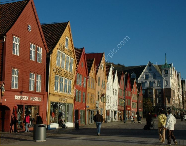 NORWAY - Bryggen, a World Heritage Site, Bergen, Norway