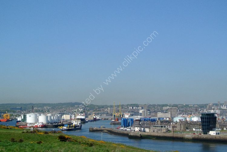 SCOTLAND - Aberdeen Harbour and City