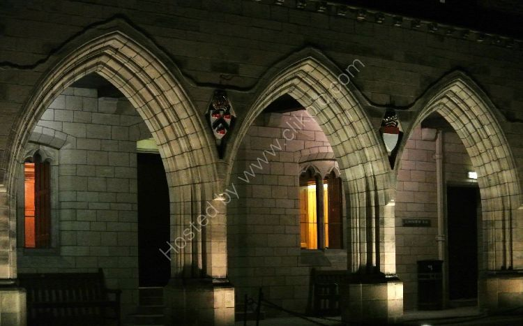 SCOTLAND - Cloisters of Elphinstone Hall, Kings College, Aberdeen