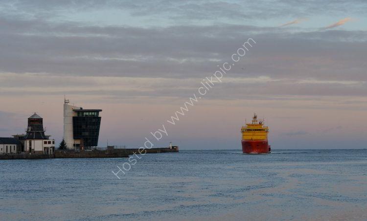 SCOTLAND - Dawn breaks at Aberdeen Harbour