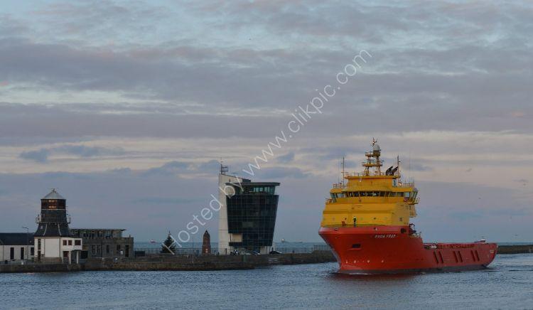SCOTLAND - Dawn entrance to Aberdeen Harbour