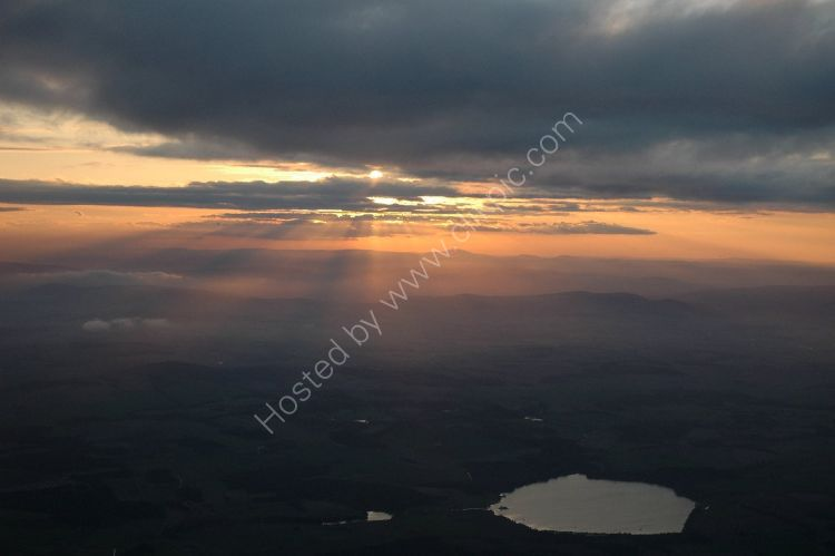 SCOTLAND - Loch of Skene from the air