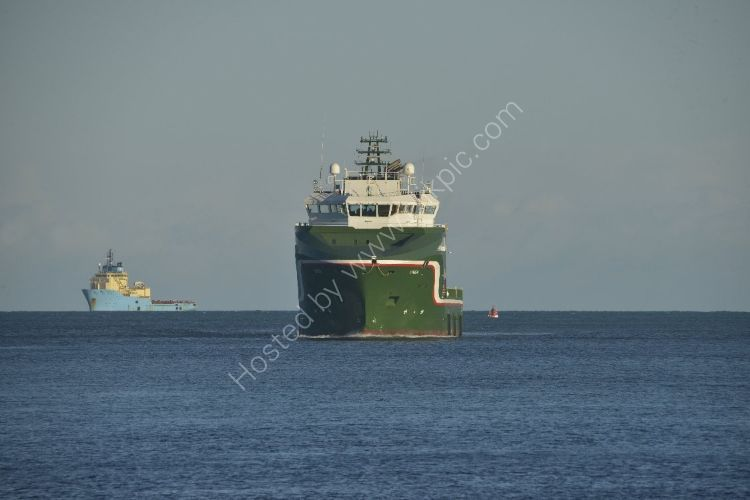 SCOTLAND - Oil Supply Vessels approaching Aberdeen Harbour