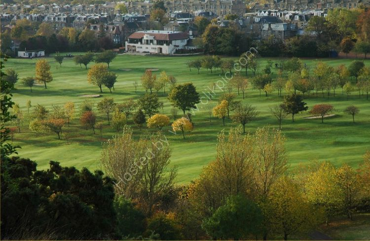 SCOTLAND - Prestonfield Golf Course from Arthur's Seat, Edinburgh
