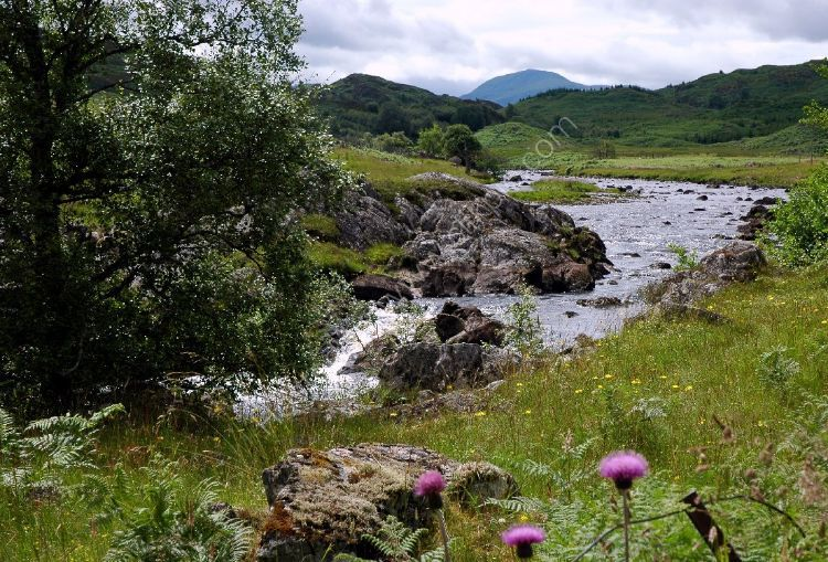 SCOTLAND - River near the Monadhlaith Mountains near Rannoch Moor