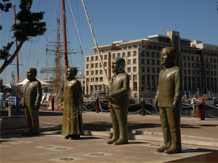 SOUTH AFRICA - Nobel Square, Cape Town, commemorating Albert Luthuli, Archbishop Emeritus Desmond Tutu, F.W. de Klerk, and Nelson Mandela