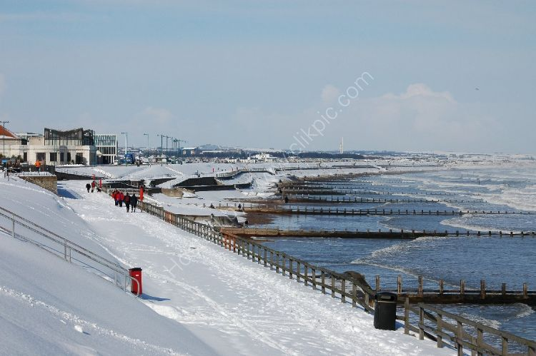Winter - Aberdeen Beach under snow