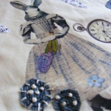 A mixture of printing techniques and hand and machine stitch.