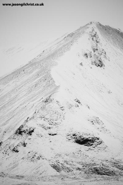 Snow-covered Beinn Eighe