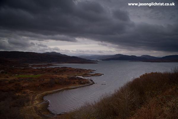 Storm clouds over Loch Sunart