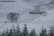 Corgarff Castle in snow