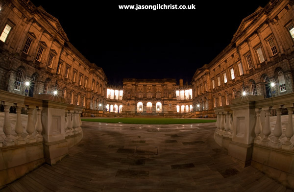 Edinburgh University Old College at night