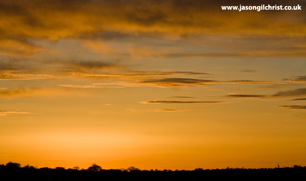 Golden sunset over Northern Cape