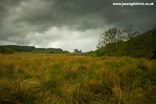 Kilchurn Castle across the bog