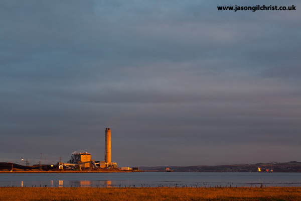 Golden light on Longannet Power Station