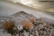 Limestone rock and mist: Croatia karst