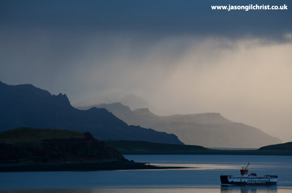 Skye-Raasay ferry at dusk
