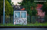 TCK graffiti box at the Train Station, Zagreb