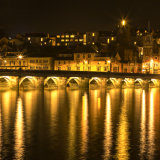 Moon setting over the Old Bridge