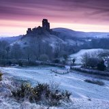 Frosty morning at Corfe Castle