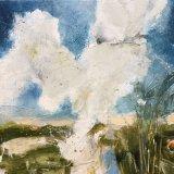 Heath Farm view, bright cloud