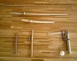 Wood weapons used in Jodo practice